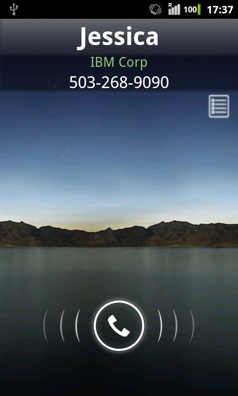 Rocket Caller ID CC Theme- screenshot
