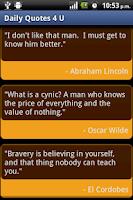 Screenshot of Daily Quotes 4 U