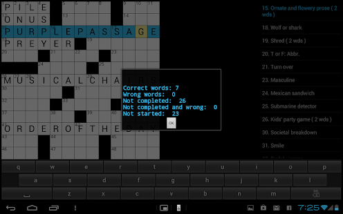 Crossword  Puzzle (US) game- screenshot thumbnail