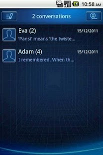 Easy SMS Blue Technology Theme screenshot