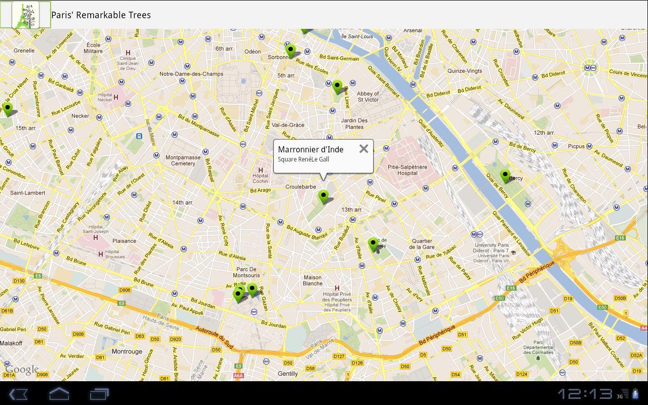 Arbres remarquables de Paris– Capture d'écran