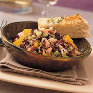 Orange-Wild Rice Salad with Smoked Turkey.