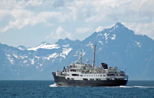 Hurtigruten-Lofoten-in-Norway - Explore the wild and natural Norwegian scenery as you travel through the Raftsund strait aboard Hurtigruten's Lofoten.