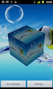 3D Fish live wallpaper - screenshot thumbnail