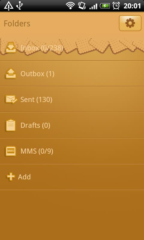 GO SMS Pro Rudolph Theme - screenshot