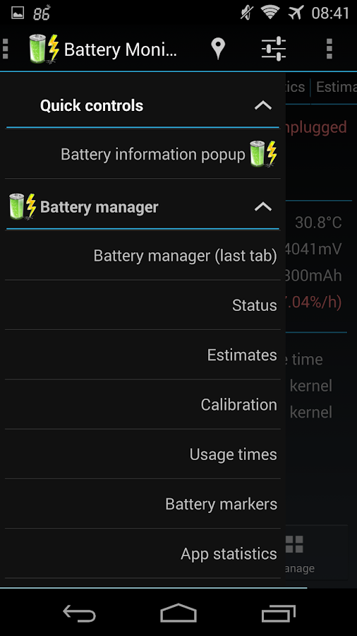 3C Battery Monitor Widget- screenshot