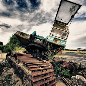 Transformer by Jürgen Mayer - Artistic Objects Industrial Objects ( sky, lost, quarry, industrial, hdr, excavator, rusty, industry, rust, decay,  )