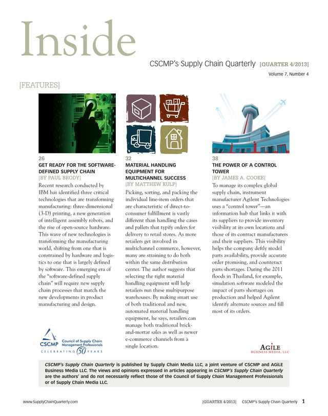 CSCMP's Supply Chain Quarterly- screenshot