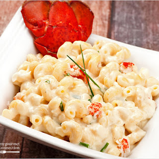 Stovetop Lobster Macaroni and Cheese.
