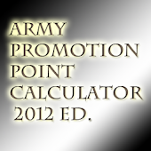 Army Promotion Point Calc 2013