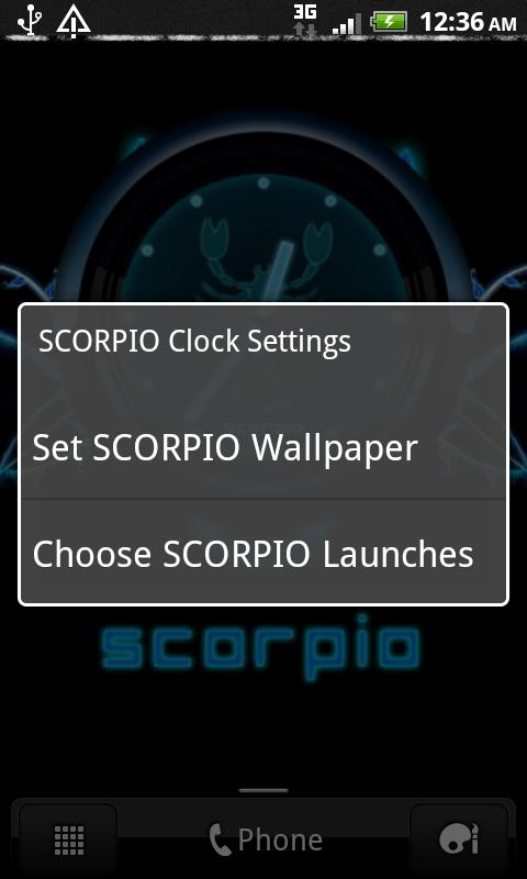 SCORPIO - Neon Blue Clock - screenshot
