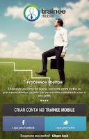 Screenshot of Trainee Mobile