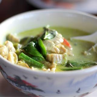 Crockpot Thai Green Curry Chicken.