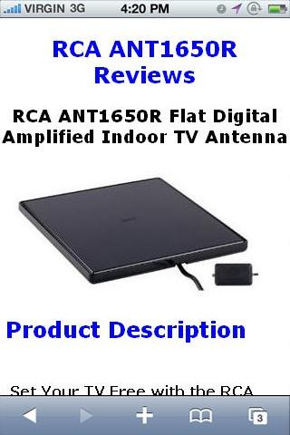 ANT1650R Amplified TV Reviews