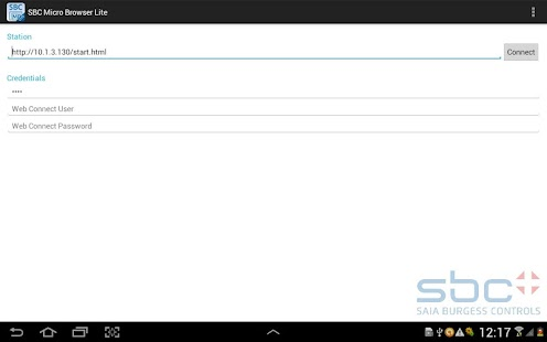 SBC Micro Browser Lite - náhled