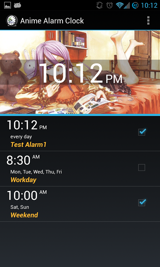 Anime Alarm Clock - screenshot