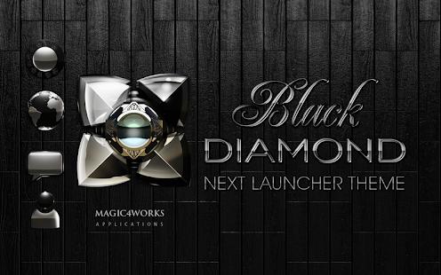 Next Launcher Theme Black Dia