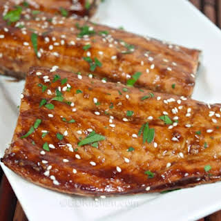 Baked Teriyaki Salmon.
