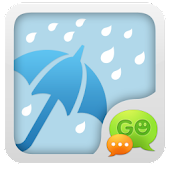 App GO SMS Pro Rainy day Theme version 2015 APK