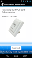 Screenshot of InfoThink NFC Reader Demo