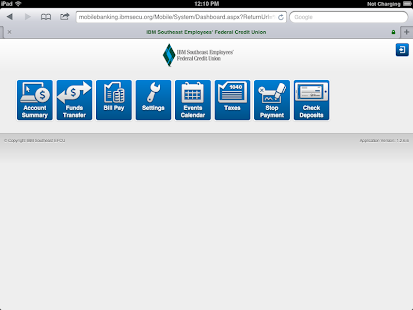 IBMSECU Mobile Banking- screenshot thumbnail