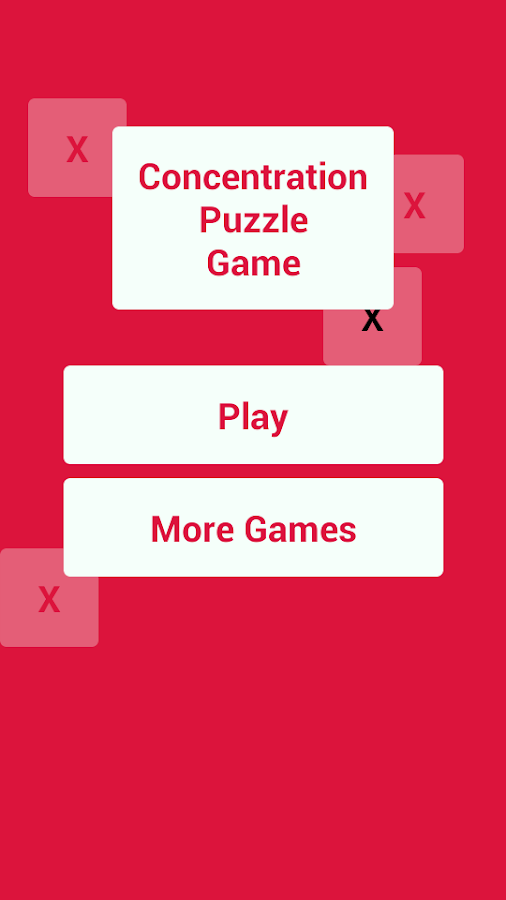 A Concentration Puzzle Game - screenshot