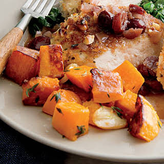 Garlic and Thyme Roasted Butternut Squash.