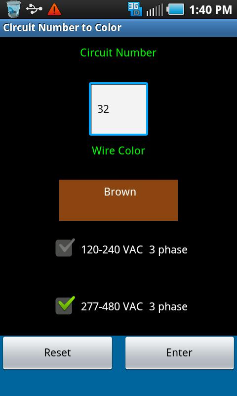 Circuit Number To Color - screenshot