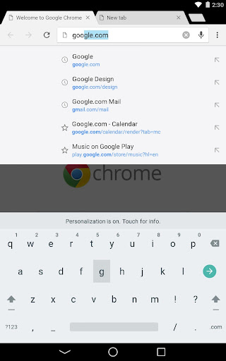 Chrome Browser - Google app (apk) free download for Android/PC/Windows screenshot