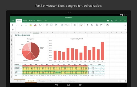 Microsoft Excel for Tablet v16.0.3601.1013