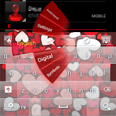 Sweet Loving Heart GO Keyboard