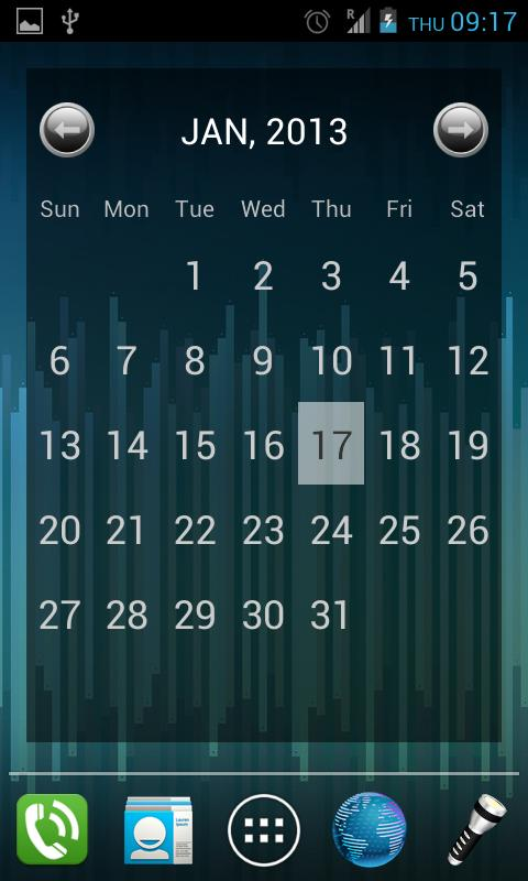 Julls' Calendar Widget Lite - screenshot