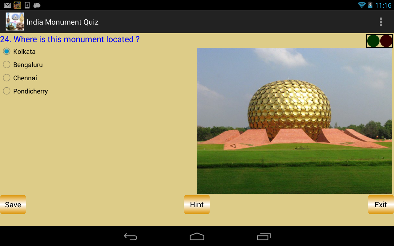 India Monument Quiz - screenshot