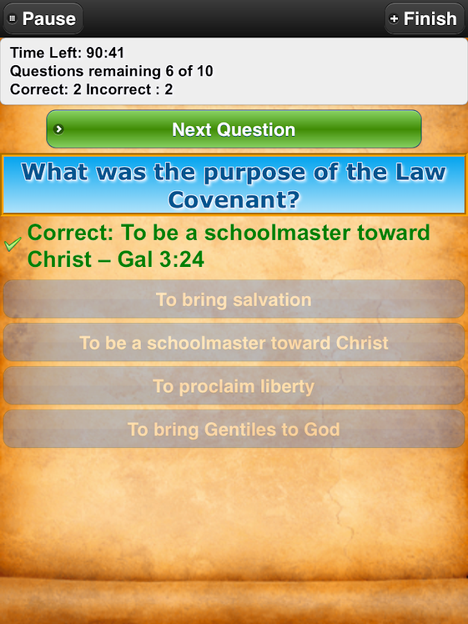 Bible Trivia Quiz Free Bible G- screenshot