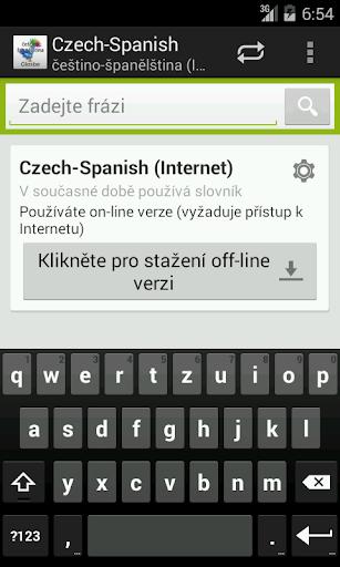 Češtino-Španělština slovník