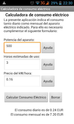 Calculadora de Gasto Eléctrico