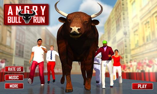 愤怒的公牛运行3D模拟器