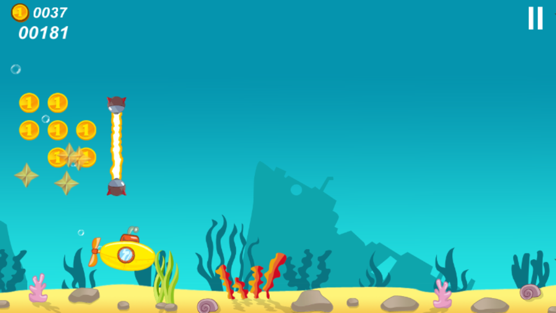 Submarine 2D- screenshot