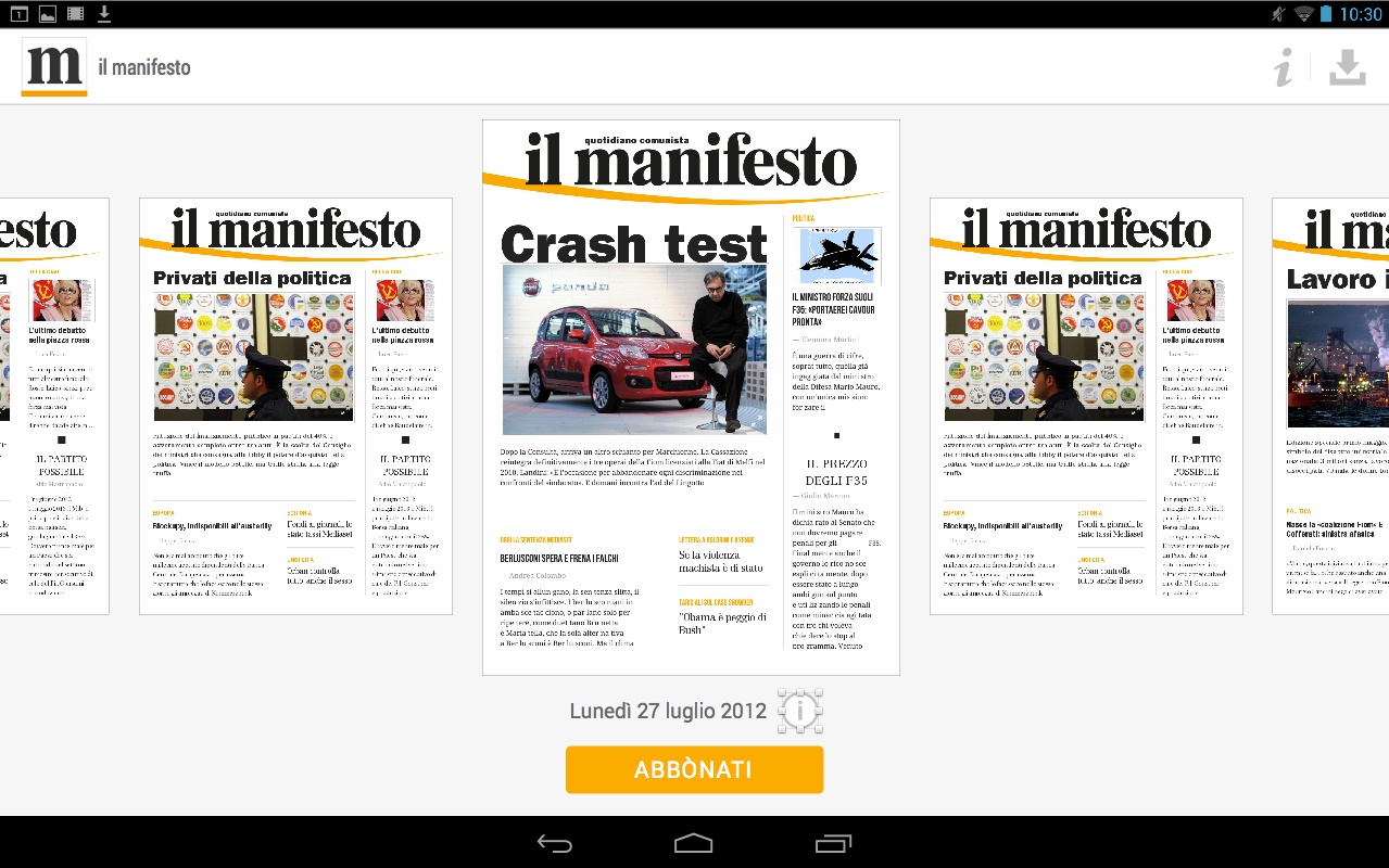il manifesto- screenshot