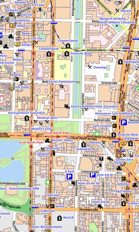 Düsseldorf Offline City Map- screenshot