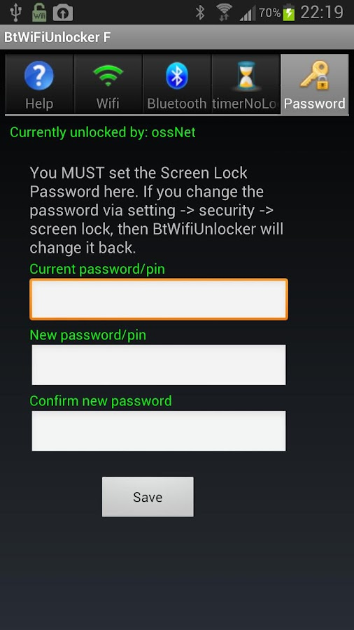 Bluetooth and  Wifi Unlocker F - screenshot