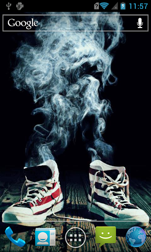 Smoking sneakers live paper