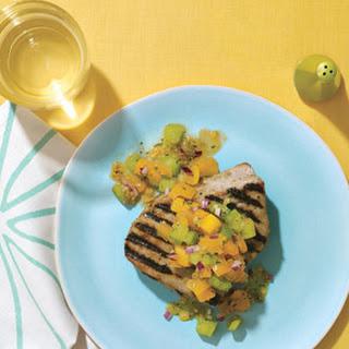 Spicy Grilled Tuna with Garden Salsa