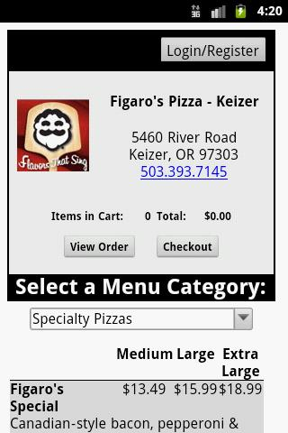 Figaro's Pizza- screenshot