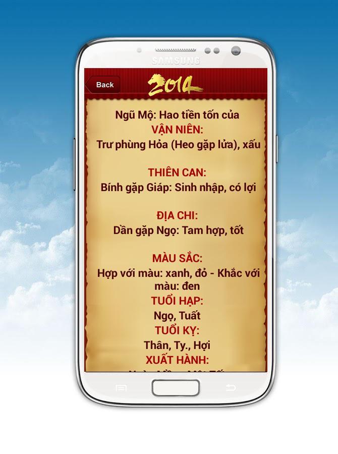 Tu Vi So mang Giap Ngo 2014 - screenshot
