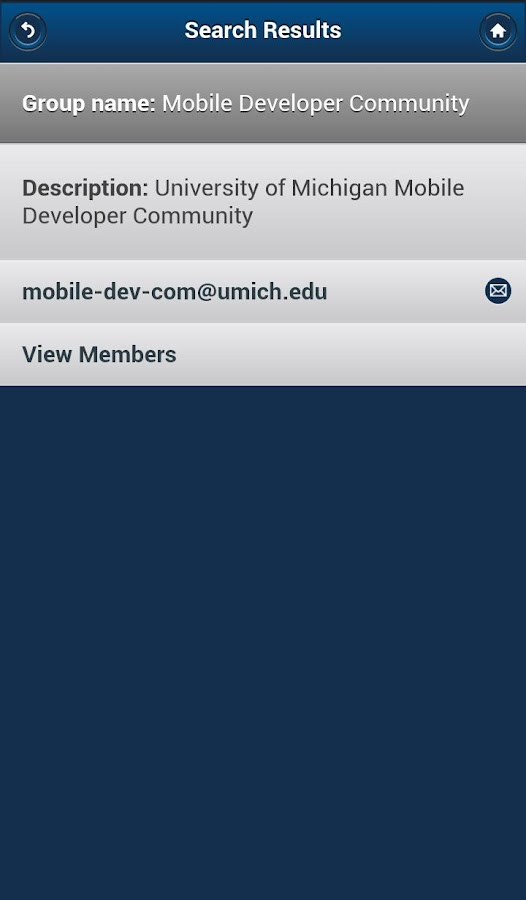 University of Michigan - screenshot