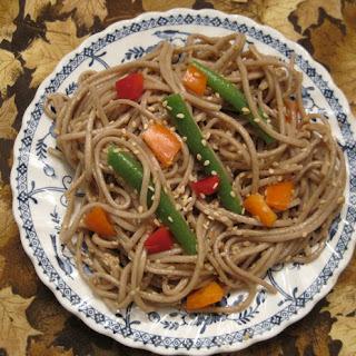 Sesame Soba Noodles.