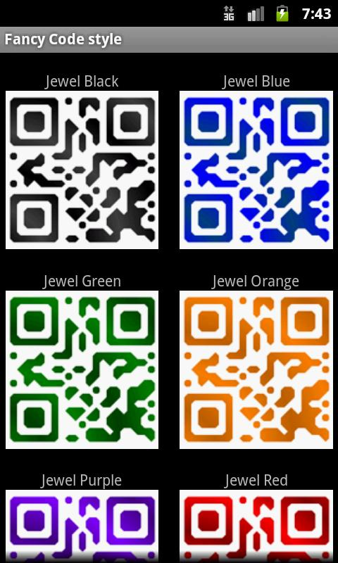 Fancy QR Code- screenshot