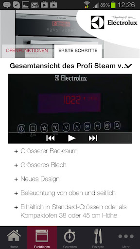 【免費生活App】Electrolux Profi Steam Old-APP點子