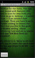 Screenshot of 500 Best Fonts by IronWolf